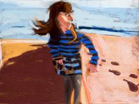 Esme in St Leonards by Chantal Joffe contemporary artwork works on paper