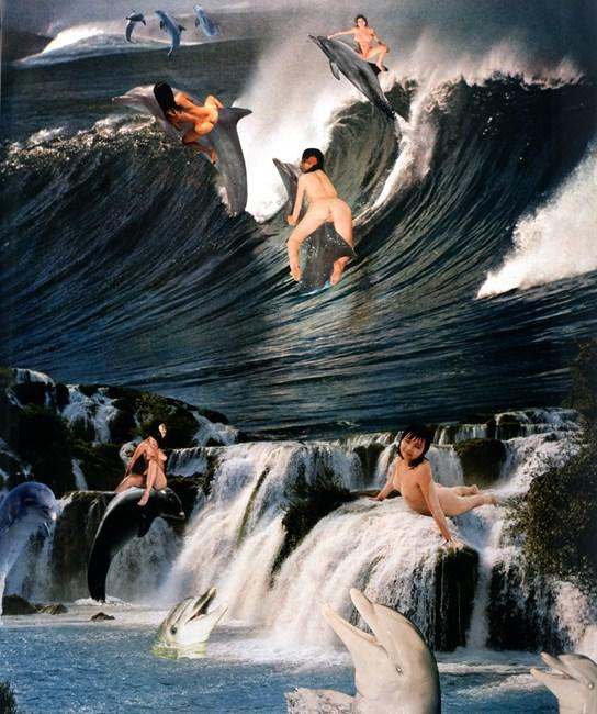 Dolphin Delirium by Penny Slinger contemporary artwork