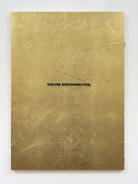 ONLINE DISCONNECTED (HYPER-POEM LOCKDOWN) by Stefan Brüggemann contemporary artwork mixed media