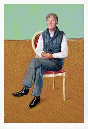 Sir Tatton Sykes by David Hockney contemporary artwork