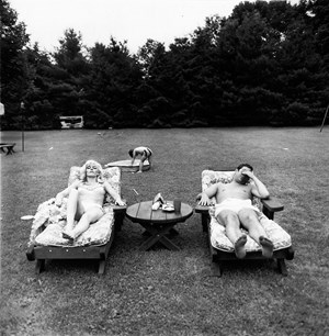 A family on their lawn on Sunday in Westchester, N.Y. by Diane Arbus contemporary artwork