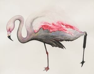 Flamingo by Grace Schwindt contemporary artwork