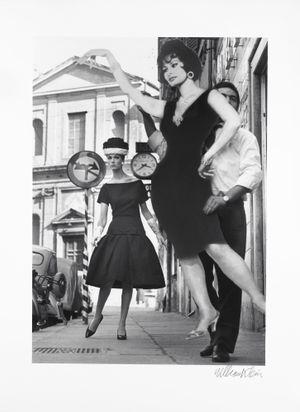 Simone + Sophia Loren, Rome (Vogue) by William Klein contemporary artwork
