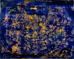 Landscape of Sapphire and Yellow Exercise 藍黃山水習作 by Su Meng-Hung contemporary artwork