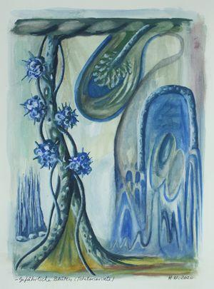 Gefährliche Blüten (Totalreservate) by Hartmut Neumann contemporary artwork