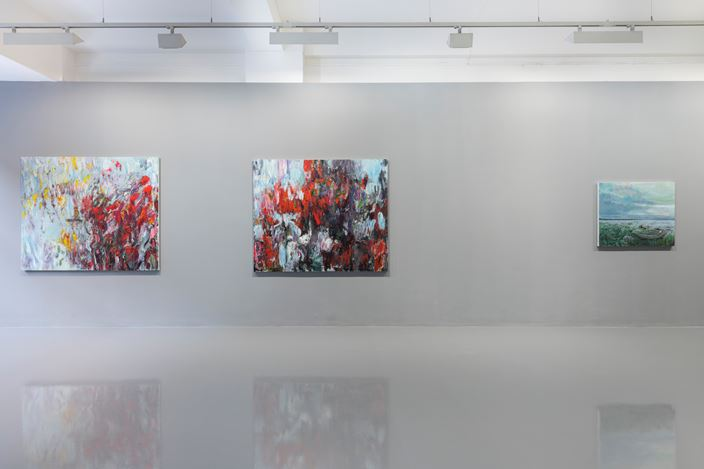 Exhibition view: Sabine Moritz, Paintings and Drawings, PilarCorrias, London (22 November 2018–4 January 2019). Courtesy the artist and PilarCorrias. Photo: Damian Griffiths.