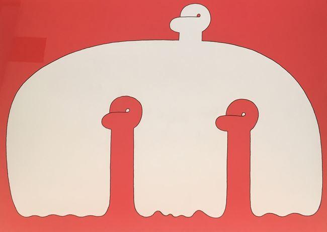 White Form and Red Form by Sadamasa Motonaga contemporary artwork
