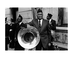 Men from the 369th Regiment Marching Band, Harlem, NY by Dawoud Bey contemporary artwork