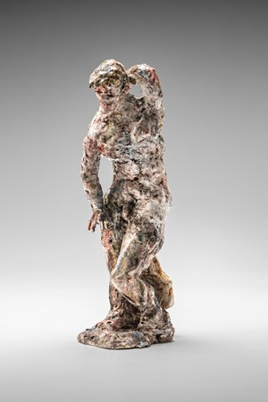 Statue (knee bent) by Stephen Benwell contemporary artwork