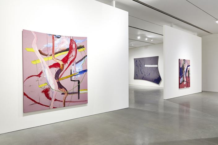 Exhibition view: Julian Schnabel, The Patch of Blue the Prisoner Calls the Sky, Pace Gallery, New York (6 March–14 August 2020). ©️ Julian Schnabel. Courtesy Pace Gallery.