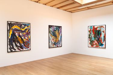 Exhibition view: Karel Appel, Out of Nature, Blum & Poe, Los Angeles (8 September–27 October 2018). © 2018 Karel Appel Foundation, c/o Artists Rights Society (ARS), New York. Courtesy the Foundation and Blum & Poe, Los Angeles/New York/Tokyo.
