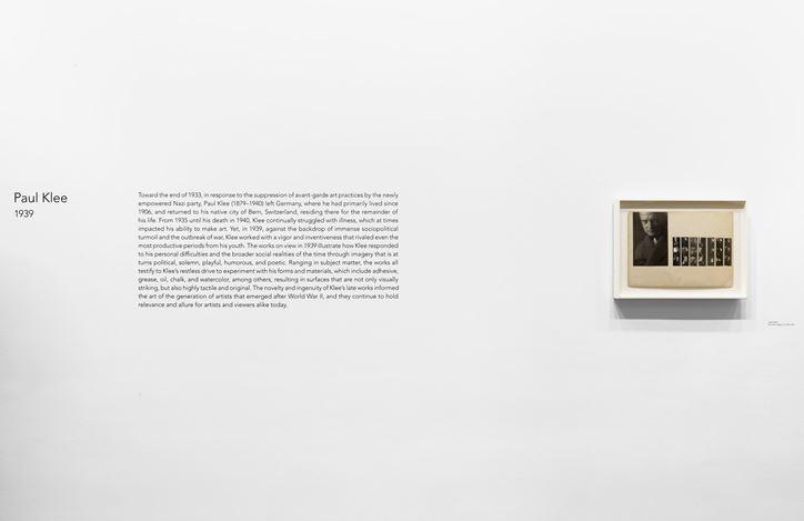 Exhibition view: Paul Klee,1939, David Zwirner, 20th Street, New York (10 September–26 October 2019). Courtesy David Zwirner.