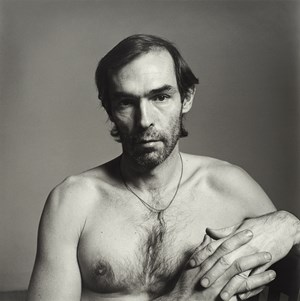 Self Portrait (with a string around his neck) by Peter Hujar contemporary artwork