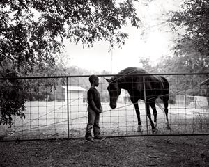 Jerry and horse by Isabelle Armand contemporary artwork