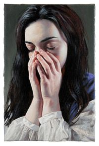 Sehnsucht / Longing by Martin Eder contemporary artwork painting, works on paper