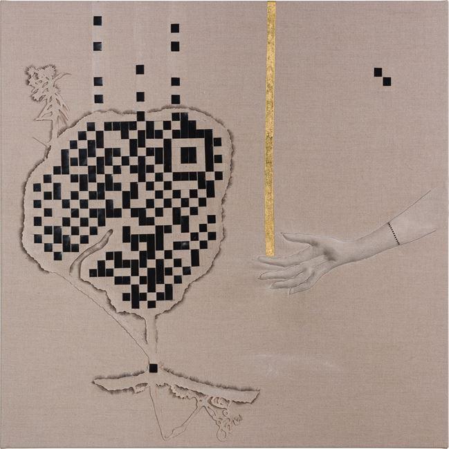 Arrangement for The Galapagos (Sicyos villas, extinct, after Darwin) by Caroline Rothwell contemporary artwork