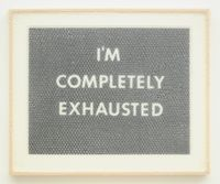 I'M COMPLETELY EXHAUSTED by Tammi Campbell contemporary artwork works on paper, drawing