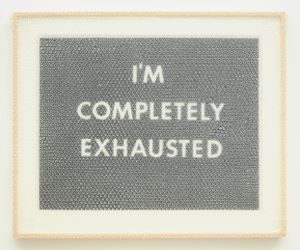 """I'M COMPLETELY EXHAUSTED"" by Tammi Campbell contemporary artwork"