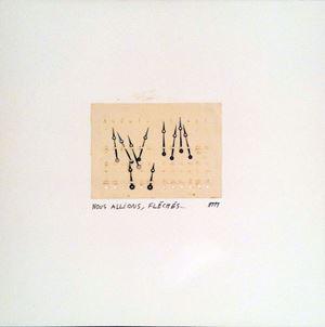 Nous allions, flêchés... by Marcel Miracle contemporary artwork