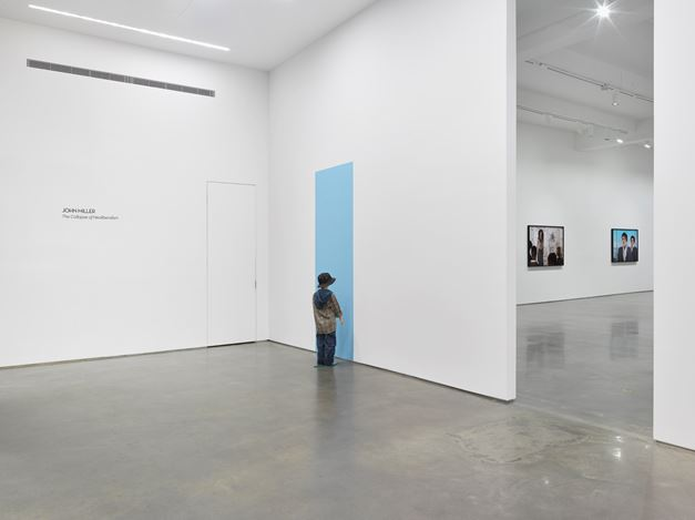 Exhibition view: John Miller, The Collapse of Neoliberalism, Metro Pictures, New York (30 January–14 March 2020). Courtesy Metro Pictures, New York.