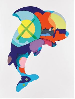 Piranhas When You're Sleeping by KAWS contemporary artwork