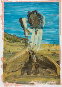 At Nato Beach by Rui Miguel Leitao Ferreira contemporary artwork painting, works on paper