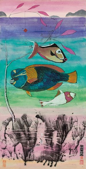 Untitled (Three Fish) 《無題》(三魚圖) by Luis Chan contemporary artwork