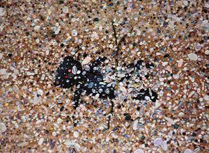 Sandy beach by Eguchi Ayane contemporary artwork