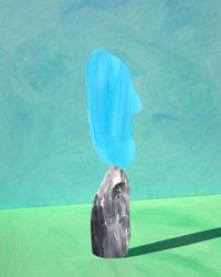 blue three by Ina Jang contemporary artwork print