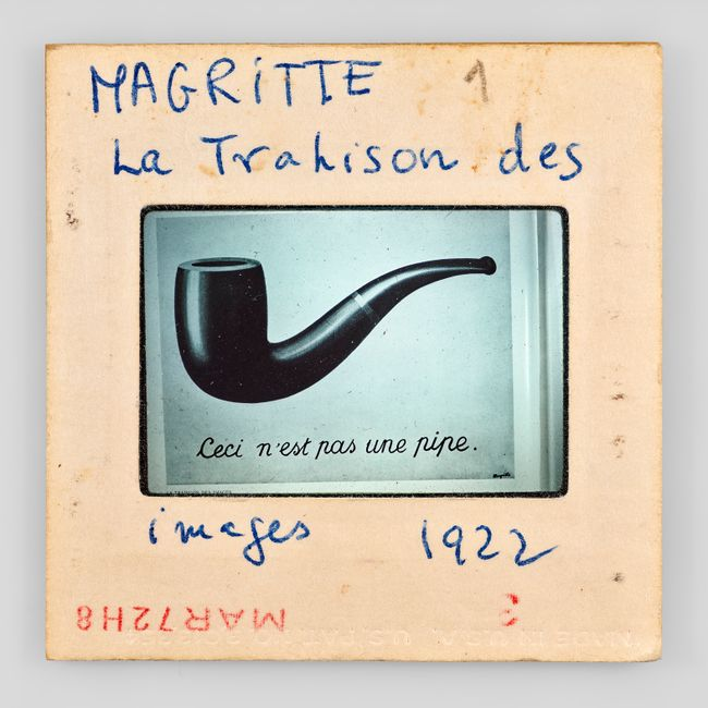 MAGRITTE 1 La Trahison des images 1922 MADE IN U.S.A. U.S.PAT. NO.3,013,354 3 MAR72H8 by Sebastian Riemer contemporary artwork