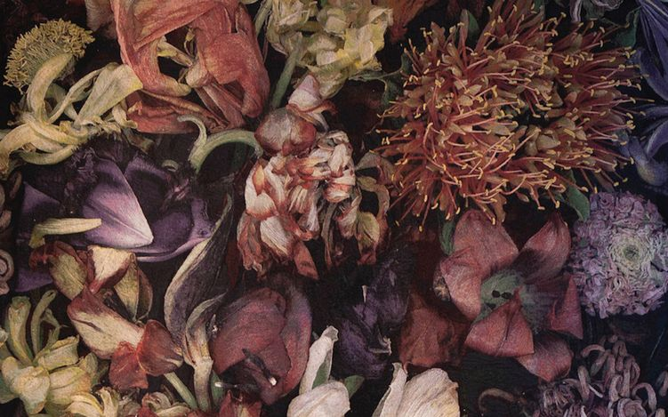 Luzia Simons, Mil Floresm(2018) (detail). Wool, cotton, silk, acrylic. 297 x 150 cm. Courtesy Brutto Gusto.