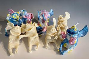 """Spontaneous Diversity""- 8 unique pieces by Takashi Hara contemporary artwork"