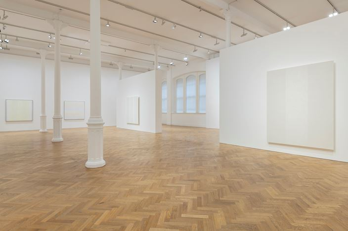 Exhibition view: Group Exhibition, At the Edge of Things: Baer, Corse, Martin, Pace Gallery, London (7 June–14 August 2019). Courtesy Pace Gallery.