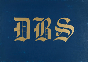 DBS by David Diao contemporary artwork