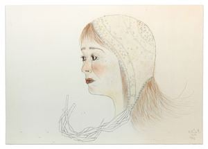 Red Cap by Kiki Smith contemporary artwork