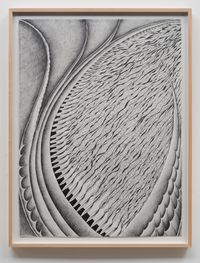 Fossil #7 'The Force...Green Fuse' by Faith Wilding contemporary artwork works on paper, drawing