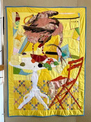 Suncoast by Jesse Krimes contemporary artwork textile