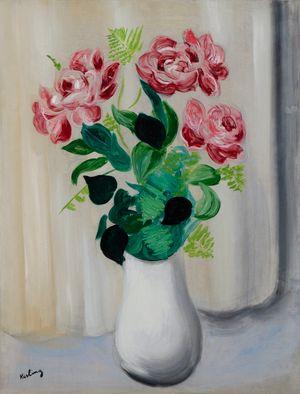 Bouquet de fleurs by Moïse Kisling contemporary artwork