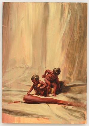 Fire from the Sun by Michaël Borremans contemporary artwork
