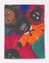 Male Doll with Three Heads by Betye Saar contemporary artwork painting