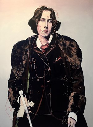 Bosie over Oscar Wilde by Melora Kuhn contemporary artwork