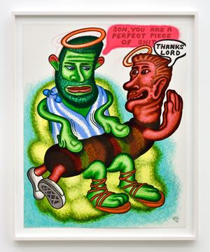 Thanks Lord by Peter Saul contemporary artwork