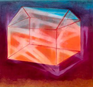 hausbau (sakralbau) by Miriam Cahn contemporary artwork painting
