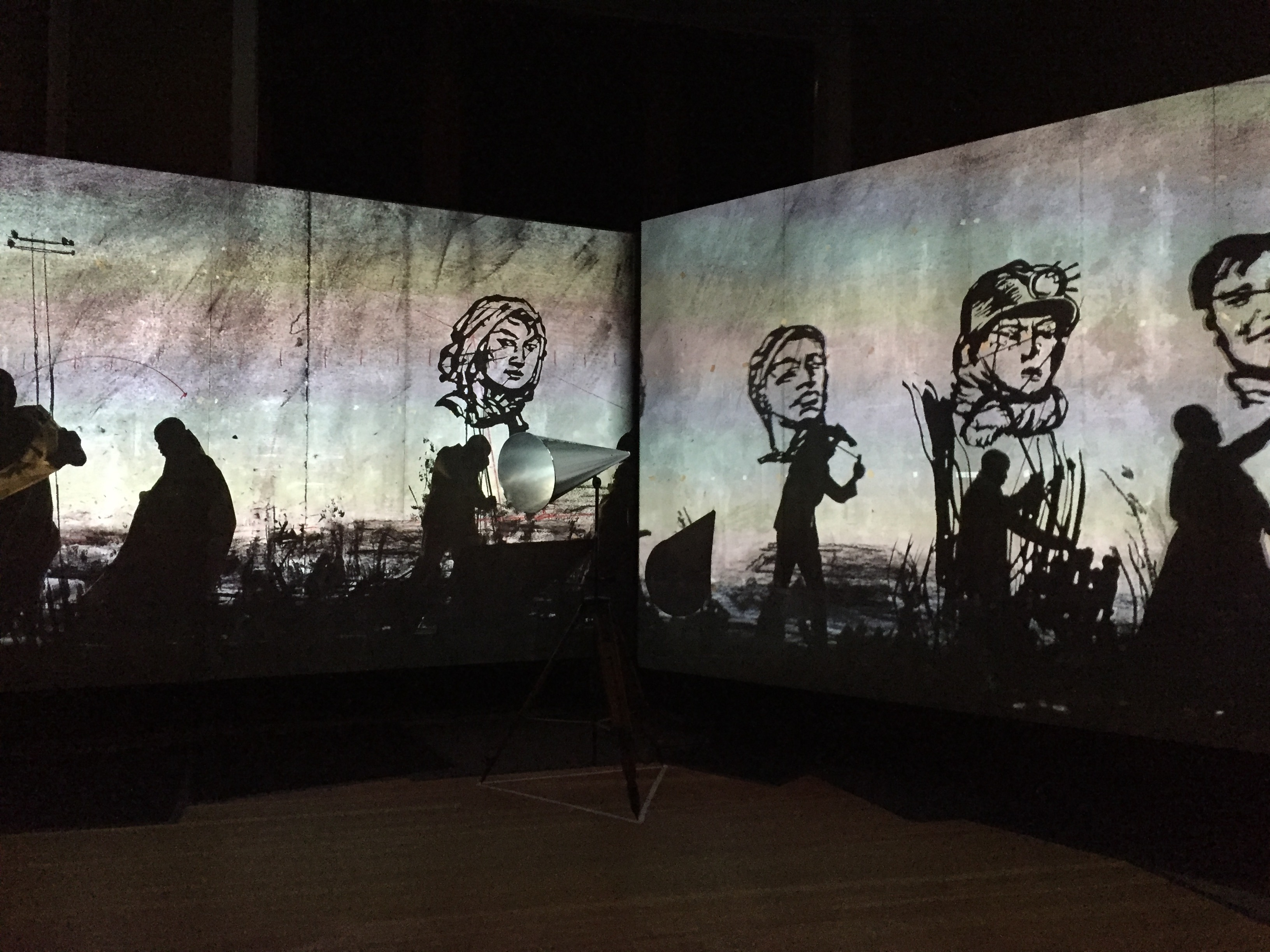 Exhibition view of William Kentridge's exhibition NO IT IS! at Martin-Gropius-Bau. Courtesy Diana d'Arenberg.