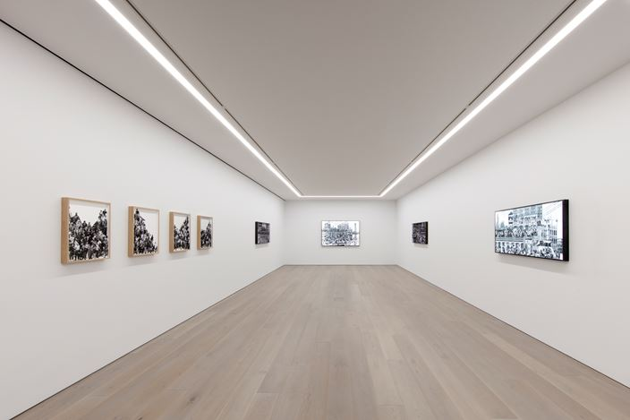 Exhibition view: JR, The Chronicles of New York City – Sketches,Perrotin, New York (11 September–26 October 2019). © JR-ART.NET. Courtesy the artist and Perrotin. Photo: Guillaume Ziccarelli.