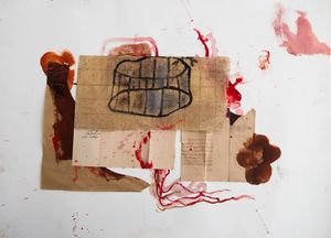 Untitled by Amina Benbouchta contemporary artwork painting, works on paper, photography, print