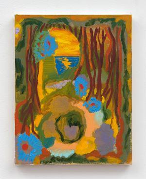 Blue Pansies by Shara Hughes contemporary artwork