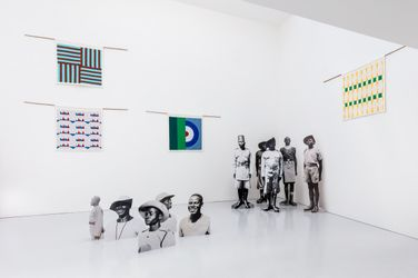 Exhibition view:Samson Kambalu, Beni, Kate MacGarry, London (11 June–17 July 2021). Courtesy the artist and Kate MacGarry, London.
