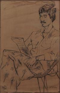 Chittrabanu by Jyothi Basu contemporary artwork works on paper