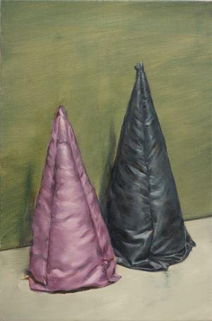 Purple & Blue Cone by Michaël Borremans contemporary artwork